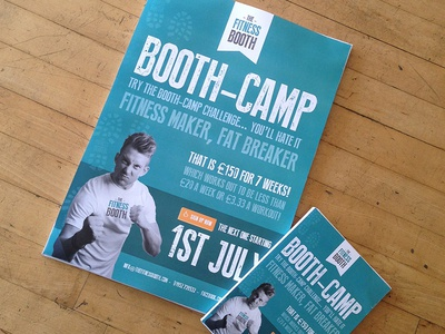 The Fitness Booth - BOOTH CAMP posters poster fitness health branding