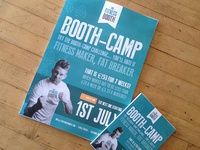 The Fitness Booth - BOOTH CAMP posters