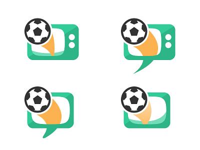 talkfootball.tv football logo tv branding