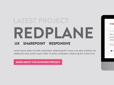 Pink Petrol Redesign Project homepage flat ui website web ui flat pink sharepoint responsive grey