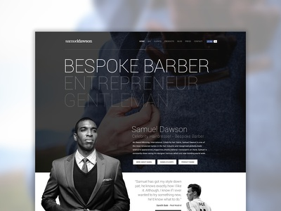 Samuel Dawson - Website Concept website pinkpetrol sam dolan minimal responsive