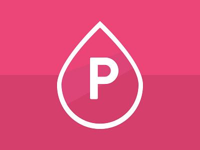 New PinkPetrol Logo pinkpetrol logo ui flat pink logodesign type droplet design p logotype raspberry