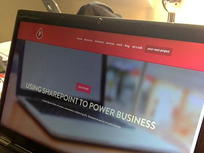 Pink Petrol Website Redesign - Solutions pinkpetrol flat ui pink sharepoint