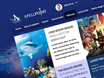 Merlin Entertainments SharePoint Intranet pinkpetrol sharepoint intranet tile tiles metro ui
