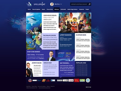 Merlin Entertainments SharePoint Intranet 2 pinkpetrol sharepoint intranet tile tiles metro ui