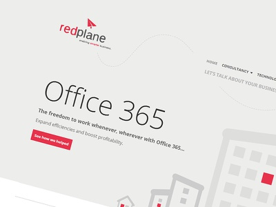 RedPlane - SharePoint Online/2013 public website pinkpetrol flat ui red sharepoint office365