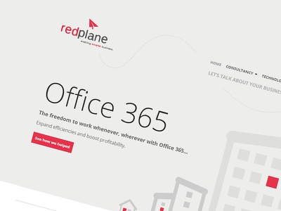 RedPlane - SharePoint Online/2013 public website pinkpetrol flat ui red sharepoint office365