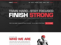 Finish Strong - Website Homepage Concept
