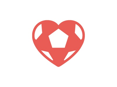 Heart4More Foundation - Logo Concept logo mark icon wip heart love football branding identity