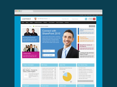 Capgemini SharePoint Intranet - Connect sharepoint flat ui blue corporate intranet
