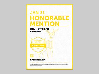 PinkPetrol, Honourable Mention by Awwwards awards sharepoint competition pink webdesign award awwwards mention web design agency portfolio