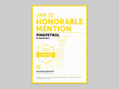 PinkPetrol, Honourable Mention by Awwwards awards sharepoint competition pink webdesign award awwwards mention web design agency portfolio