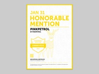 PinkPetrol, Honourable Mention by Awwwards