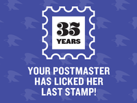Postmaster Retirement Party Poster