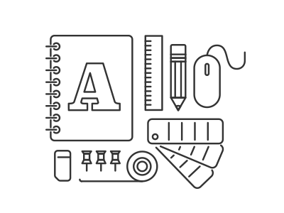 Graphic Design Tools icons graphic design montage outline clarendon tools tools of the trade