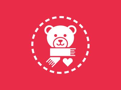 Children's Non-profit Logo bear volunteer knitting sewing stitching logo