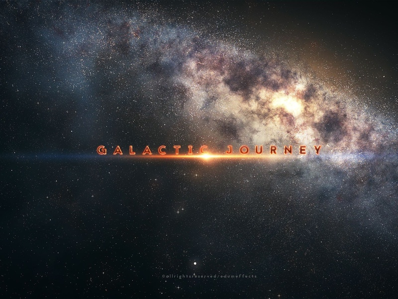 Galactic Journey interactive simulation particles trapcode branding universe space solar system nebula milky way journey interstellar galaxy galactic flying exploration environment cosmos cluster celestial