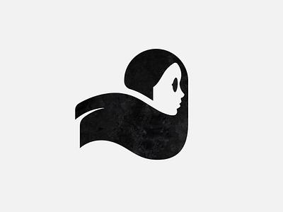 Negative space girl profile mark pretty black girl negative space mark logo