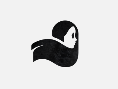 Negative space girl profile mark pretty black girl negative space mark logo