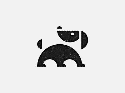 Arc Dog Logo Mark black-and-white simple circle pet animal dog logo-mark