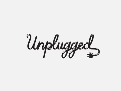 Logotype unplugged classic vintage fluid script logotype