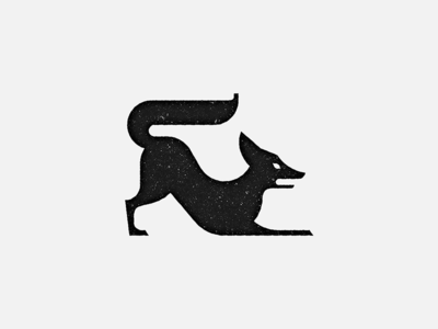 'The Fox' Mark story stamp animal fox black-and-white mark