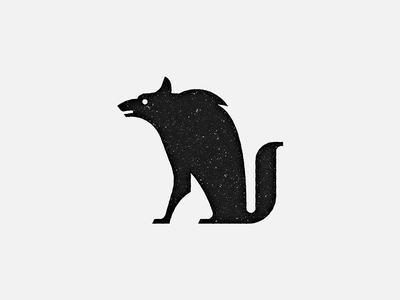 The Wolf character story stamp mark wolf black-and-white animal