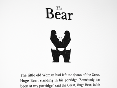 The Bear - Animal poster series negative-space fable story illustration animal