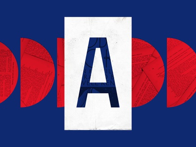 A for Arte digital art cut and paste colorful alphabet digitalcollage collage graphic design