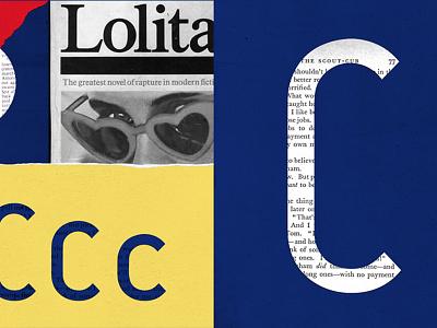 C for Club niu motion graphics lolita colorful digital art mix media digital collage collage typography