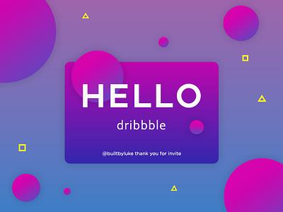Hello Dribbble! 1st shot hello dribble