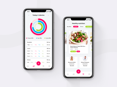 Diet Planner and Calorie Counter Nutrifit Ios App ux health care health app health coach food food app recipes recipe book recipe app calories counter fitness fitness app design app design animation ui calorie calories diet planner diet
