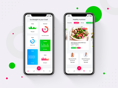 Nutrifit Ios App Calories Counter coloful clean health calorie calories tracker dashboard app dashboard mobile app health care design fitness app fitness calories app design app ux ui