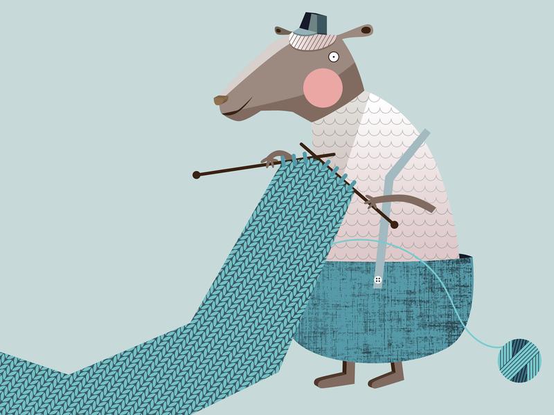 The Sheep yarn of wool mascot vector texture knitting kidswear kids cute child clothing brand wool character cartoon illustration art geometric flat sheep animal illustration