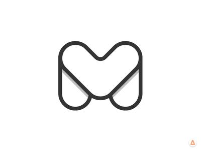 M exploration logo type m