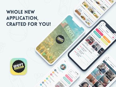EFOTT Festival app contest 💃🏻🎉 iphone logo program map lineup party redesign contest mobile app festival efott