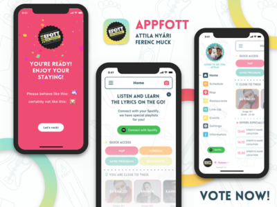 VOTE ! 🚨 - to be the official EFOTT festival application vote iphone logo map lineup party redesign contest mobile app festival efott
