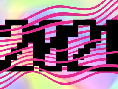 HYN2021 pixel wavy line creative creativemarket justforfun graphic design holographic typography illustration design