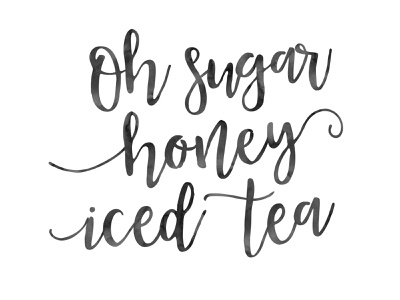 sugar honey iced tea shit design branding funny quote justforfun typography lettering