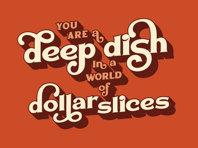 deep dish wtfshouldiletter vector hand lettering branding lockup logo typography graphic design illustration lettering design