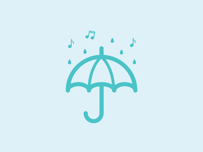 Singing in the Rain musical music umbrella vector branding design graphic design logo icon singing in the rain weeklywarmup dribbbleweeklywarmup