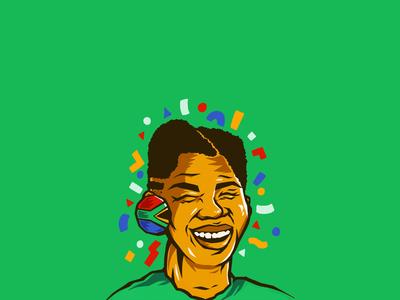 Nelson Rolihlahla Mandela (iPad Illustration)