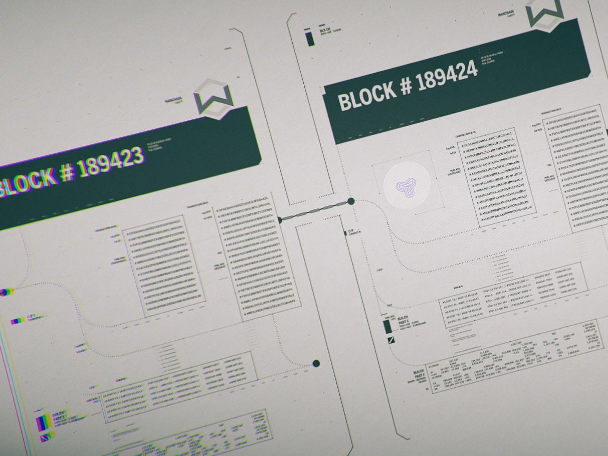 Blockchain Protocoll design motiondesign abstract 2d motion blockchain
