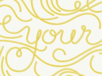 Eat your words typography spaghetti threesome