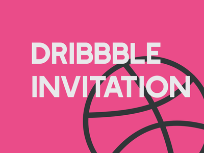 Dribbble Invitation invitation invite giveaway dribbble pink day draft invites