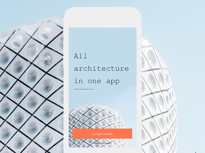 Architecture App photo ios interface mobile minimal design ux ui app architecture