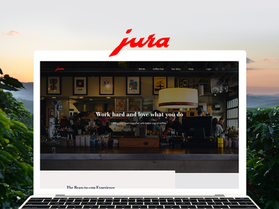 JURA website web ux ui webdesign interface shopping design beans coffee
