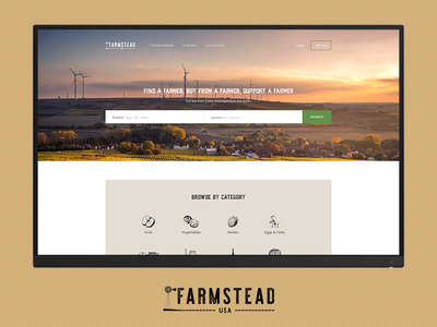 FARMSTEAD website green web ux ui farmstead photo interface design farm