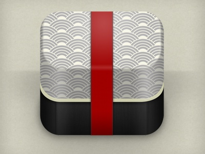 """""""classic"""" bento box icon bento box icon app mobile japan pattern lunch texture ios food ipad iphone red"""