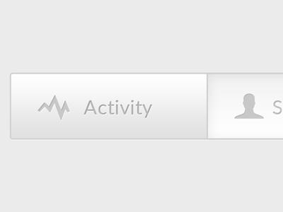 Activity button dashboard button activity grey ui